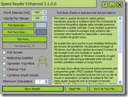 Migliorare la propria velocità di lettura di testo con Speed Reader Enhanced