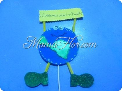 Manualidad para el Día de la Tierra: Pin Cuidemos al Planeta
