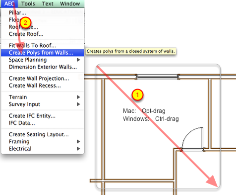 Changing A Space To A Room With Walls In Vectorworks