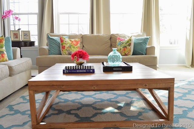 Turquoise Family Room
