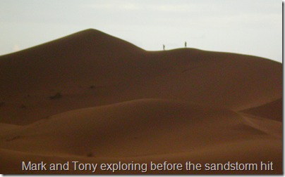 Mark and Tony just before the sand storm