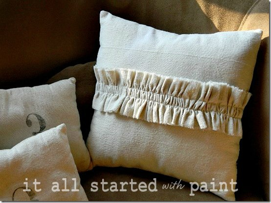 drop cloth ruffled pillow final