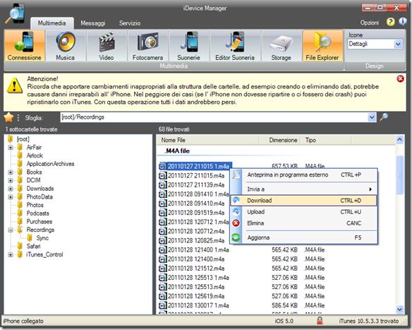 iDevice Manager File Explorer