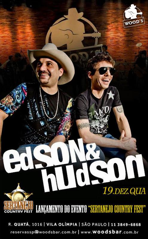 Edson & Hudson no Wood's Bar em São Paulo