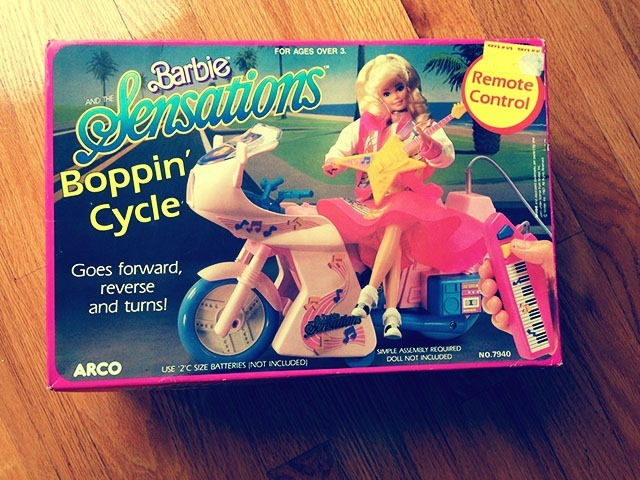 Barbie Boppin Cycle Box Front Side