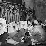 Première occupation de la cathédrale de Bayonne par les réfugiés politiques basques