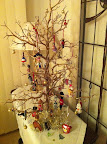 Dec 24 - Our ' International' Christmas tree with a memento of every country we have visited.