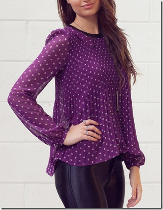 VM pleated purple top1