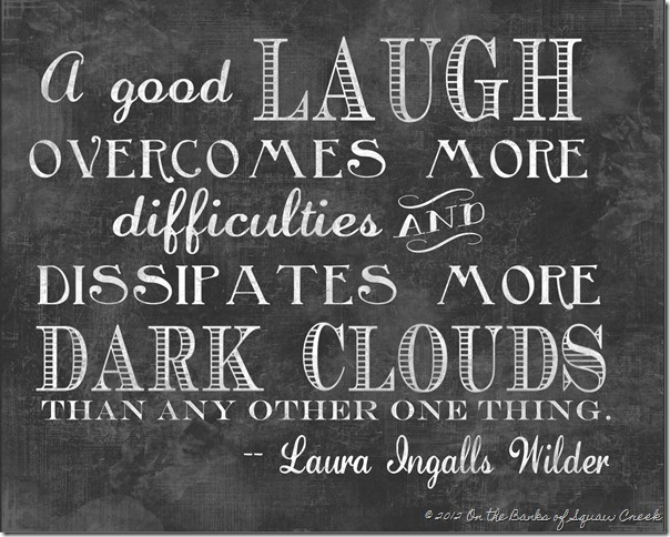 Laura Ingalls Wilder Chalkboard quote