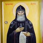 Икона Преподобный Кукша с частицей мощей