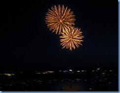 8205 Ontario Kenora Best Western Lakeside Inn on Lake of the Woods - Canada Day fireworks from our room