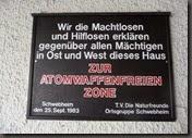 Atomwaffenfreie Zone im Naturfreundehaus Schwebheim