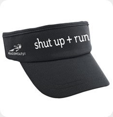 Supervisor black visor with shut up   run