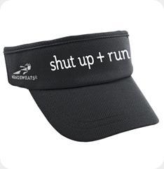 Supervisor black visor with shut up   run