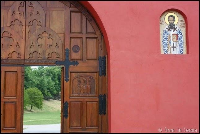 Krusedol monastery doorway