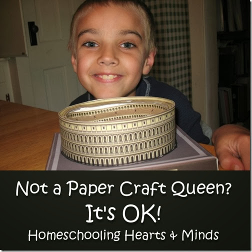 Not a Paper Craft Queen?  It's OK!  Your kids will learn!