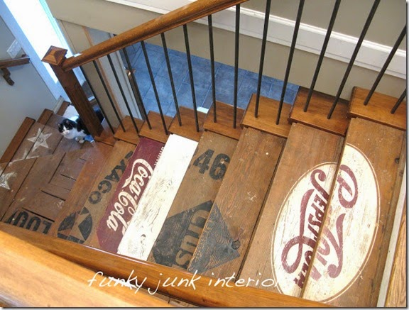 painted wood crate stair treads