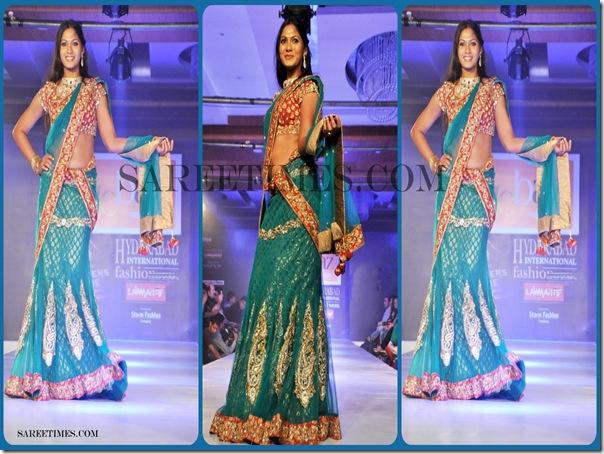 Green_Designer_Shimmer_Saree