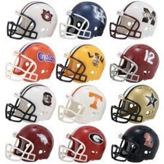 sec teams helmets