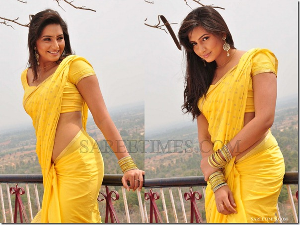 Ragini_Dwivedi_Yellow_Saree