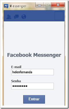 Login Facebook Messenger