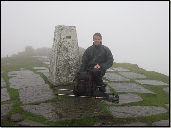 Al reaches the summit of Shutlingsloe - 506 metres