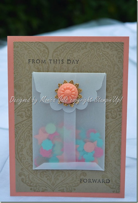 Stampin 'Up! wedding booth confetti