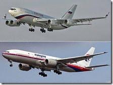L'aereo di Putin e l'aereo della Malaysia