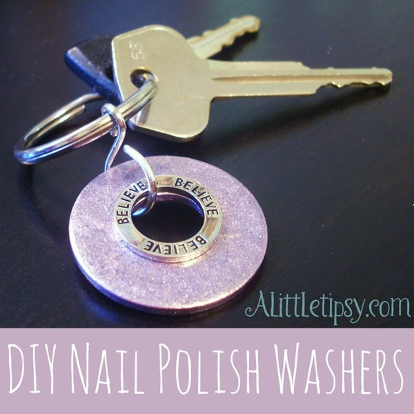 DIY Nail Polish Washers by A Little Tipsy