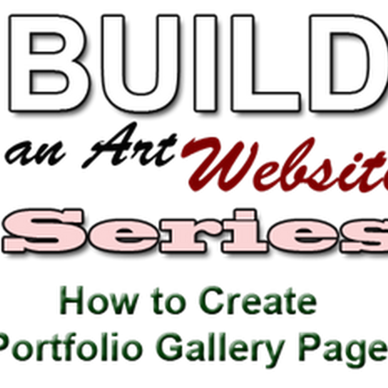 How to Create Artwork Gallery Pages for a Website Portfolio