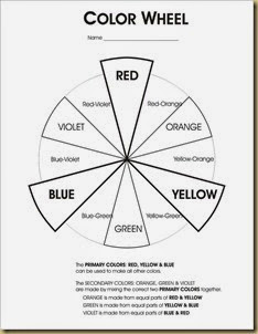 printable colorwheel worksheet with color mixing instructions copyright the helpful art teacher