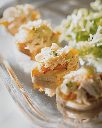 Crab Salad Canapes. (marthastewart.com)