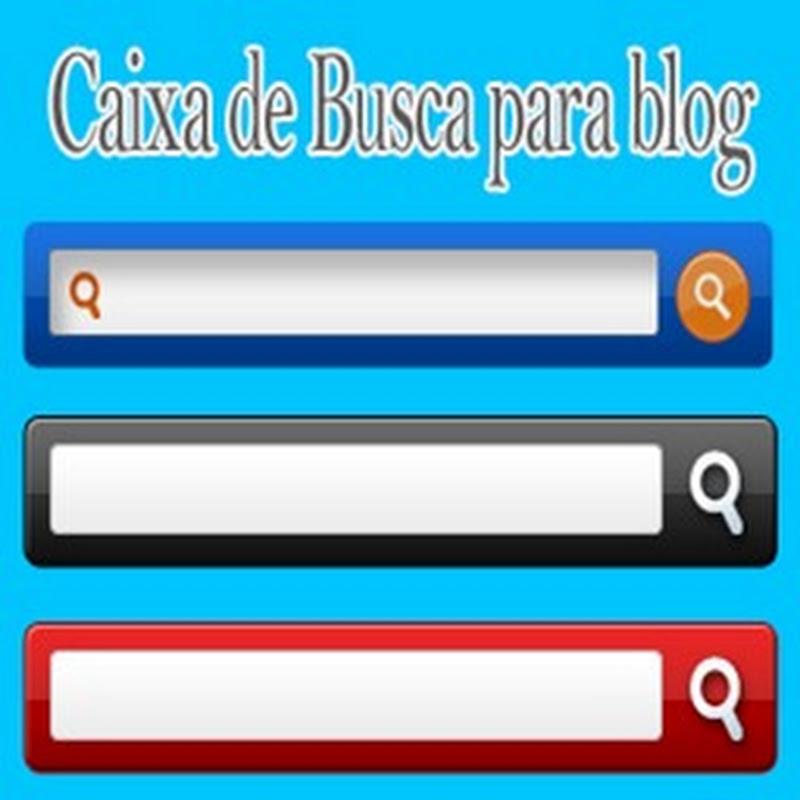 6 Elegantes caixas de busca para blog