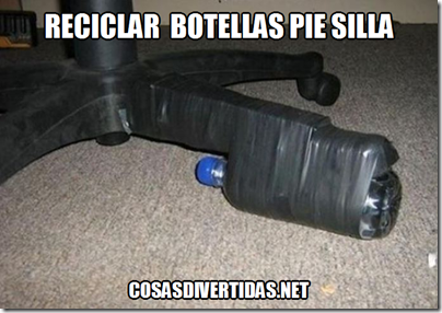 RECICLAR pie silla