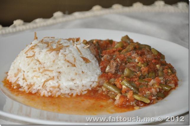 وصفة يخنة الفاصوليا الخضراء من www.fattoush.me
