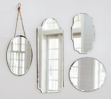 These mirrors are so delicate and effortless. (potterybarn.com)
