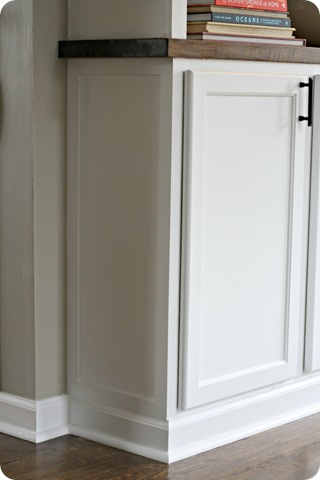 trim on side of cabinet