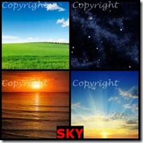SKY- 4 Pics 1 Word Answers 3 Letters