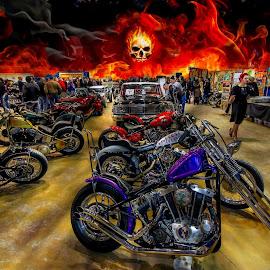 Retro  by Steve Dorothy - Transportation Motorcycles