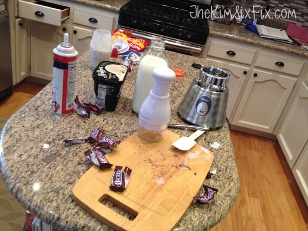 Milkshake mess