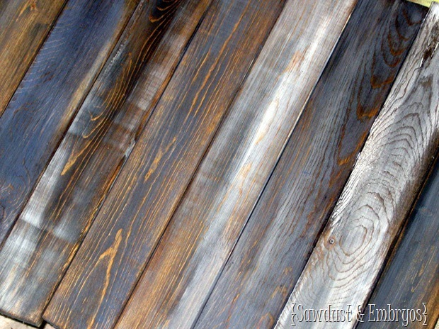 DIY Aged and Distressed Barn Boards {Sawdust and Embryos}