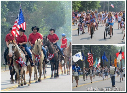 July 4th parade collage