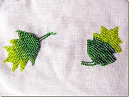 2 Detached Buttonhole Leaves without cordonnet