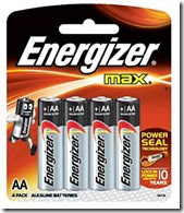 Amazon : Buy Energizer Max E91BP4 AA Alkaline Battery at Rs. 99 only (Set of 4)