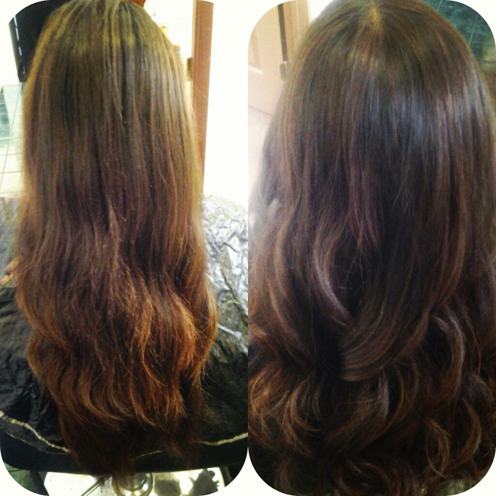Healthy Hair Is Beautiful Hair Before And After Lowlights