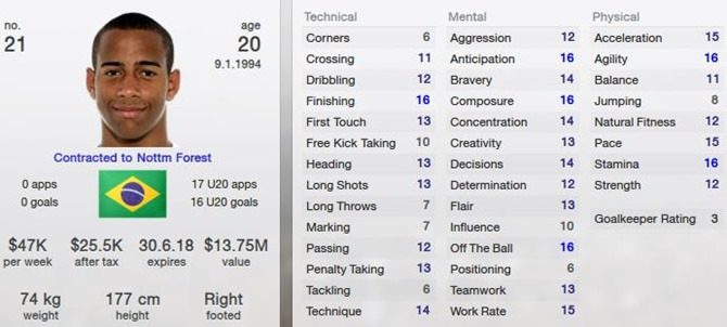 Ademilson in Football Manager 2013