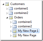 My New Page duplicate page node appended with a number.