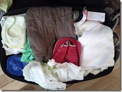 Photo valise avec bébé