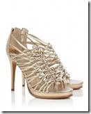 Diane von Furstenberg Metallic Sandal