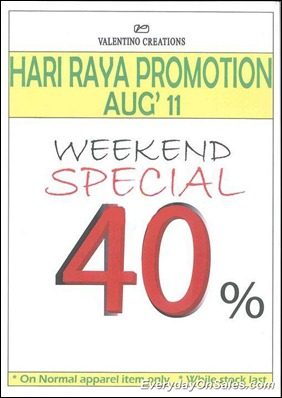 valentino-creations-hari-raya-promotion-weekend-special-2011-EverydayOnSales-Warehouse-Sale-Promotion-Deal-Discount